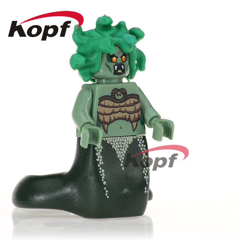 20Pcs PG1026 Building Blocks Super Heroes Medusa Unicorn Girl Inhumans Royal Family Assemble Model Bricks Children Gift Toys