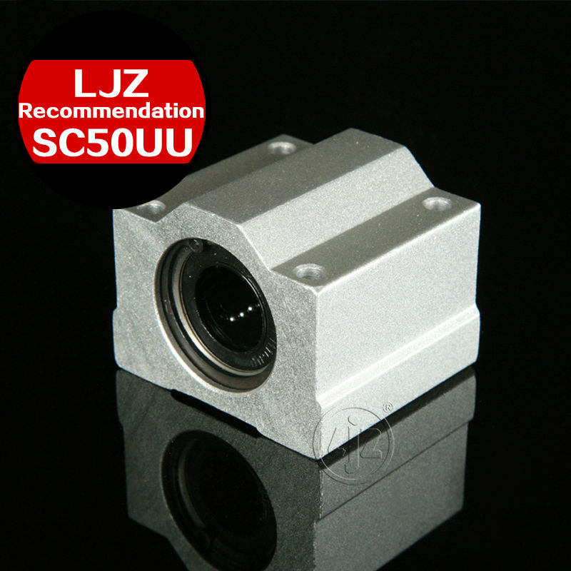 Linear motion ball slide units block bearings SC50UU Bore size 50mm scv25uu slide linear bearings aluminum box type cylinder axis scv25 linear motion ball silide units cnc parts high quality