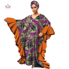 Long Sleeve Dresses for Women Casual Date Dashiki African Loose Plus Size Robe WY4701