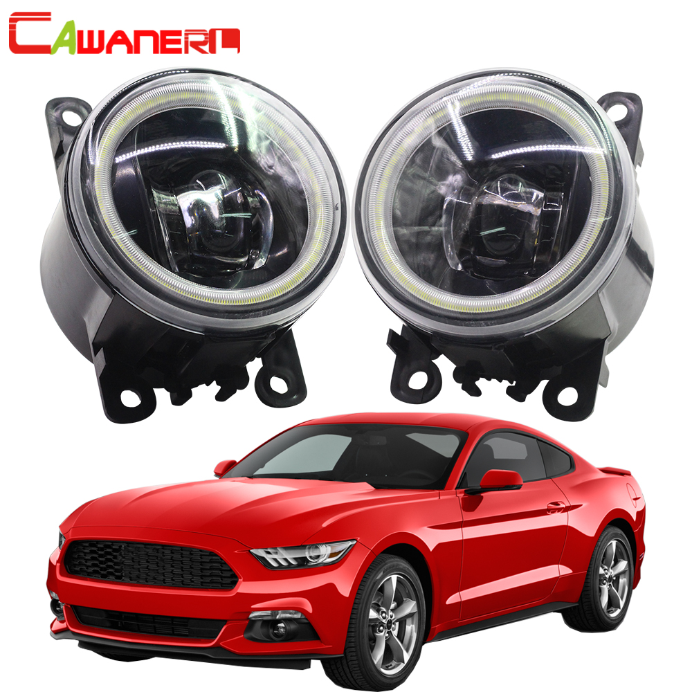 Cawanerl voiture LED feu antibrouillard ange oeil feux de jour DRL 12 V pour Ford Mustang 2005 2006 2007 2008 2009 2010 2011 2012 2013