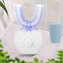 360 grad Automatische Sonic Elektrische Zahnbürste Silikon Ultra sonic Elektronische Zahn Pinsel USB Aufladbare 4 Modus Zähne Reiniger
