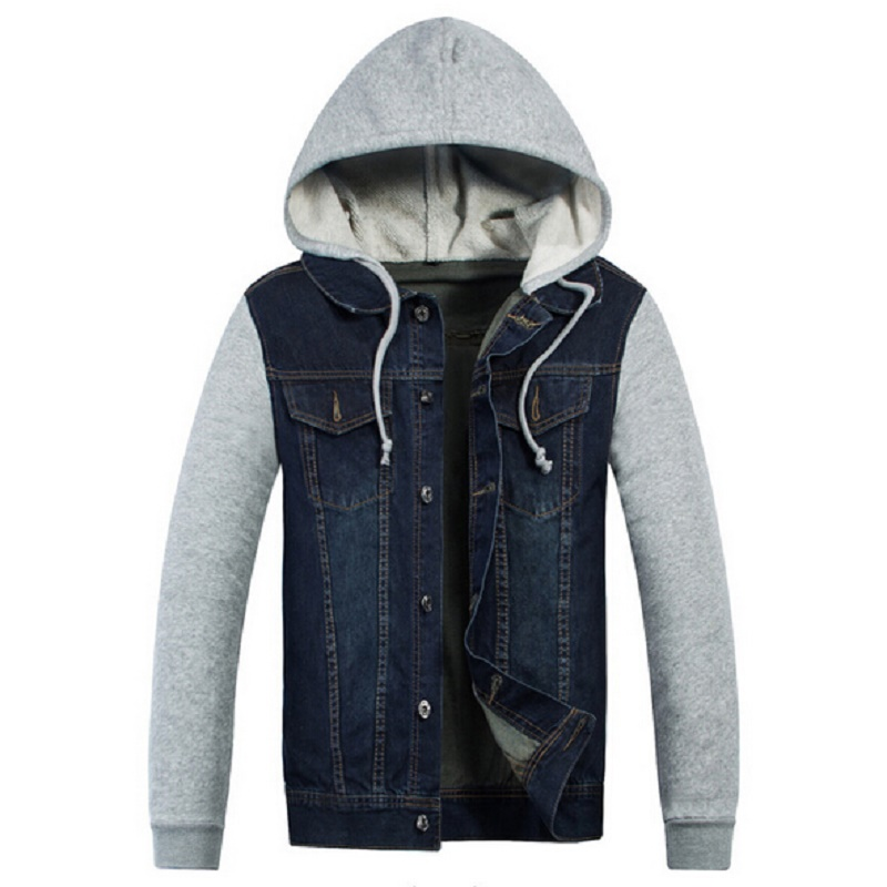 Mens Jean Jacket With Hood srrxiJ