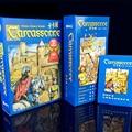 2016 Inglês Carcassonne Básico, 6 Expansão Do Rio/Torre/Catapulta/Contagem/King/Caçador Jogo de Tabuleiro Jogo De Cartas Inglês Partido jogo
