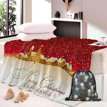 Dropship Flannel Fleece Fabric Blanket Christmas Gift New Year Soft Warm Decoration Bedroom Home Textile