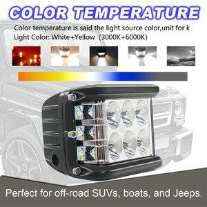 Image 4 - Новый светодиодный светильник для автомобилей 45 Вт Светодиодный светильник рабочий прожектор комбинированный боковой шутер для вождения внедорожников автомобильный трактор Luces светодиодный Para Auto