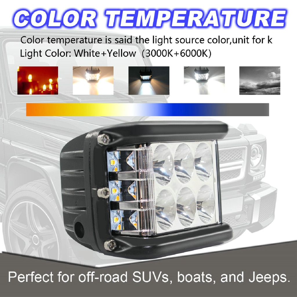 Image 4 - New LED Lamps For Cars 45W LED Light Work Flood Combo Side Shooter Driving Off Road SUV Car Tractor Luces Led Para Auto-in Light Bar/Work Light from Automobiles & Motorcycles