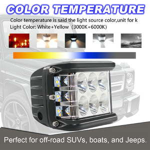 Image 4 - New LED Lamps For Cars 45W LED Light Work Flood Combo Side Shooter Driving Off Road SUV Car Tractor Luces Led Para Auto