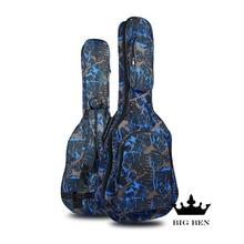 sponge guitar bag double shoulder guitar backpack 40-inch guitar bag 41-inch ballad guitar bags national flag