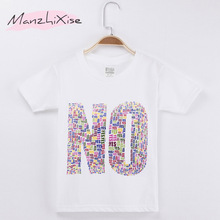 купить 2019 Children T-shirt No Yes Letter Funny 100% Cotton Child Shirts Boy and Girl Short T Shirt Baby Kids Clothes Toddler Tops Tee дешево