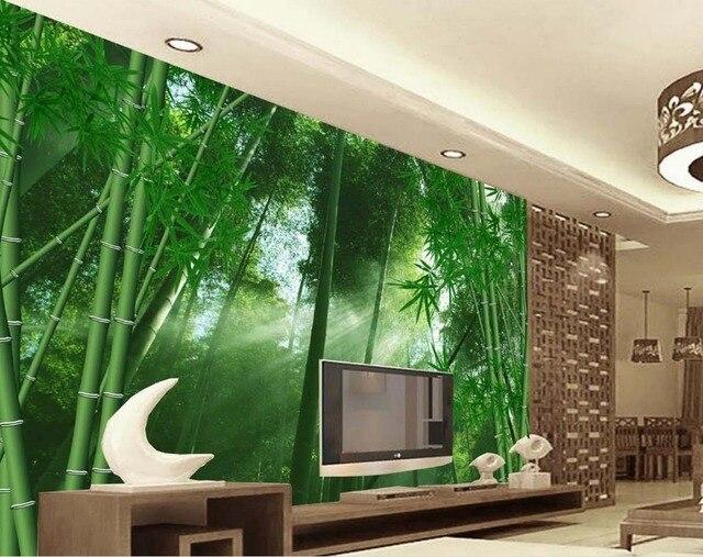 US $30.0  Benutzerdefinierte 3d mural continental schlafzimmer wohnzimmer  wand hintergrund 3d fantasie bambus 3d wallpaper landschaft in ...