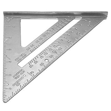 Perfect-185*185*260mm Speed Square Protractor Miter Framing Measurement Ruler For Carpenter Silver