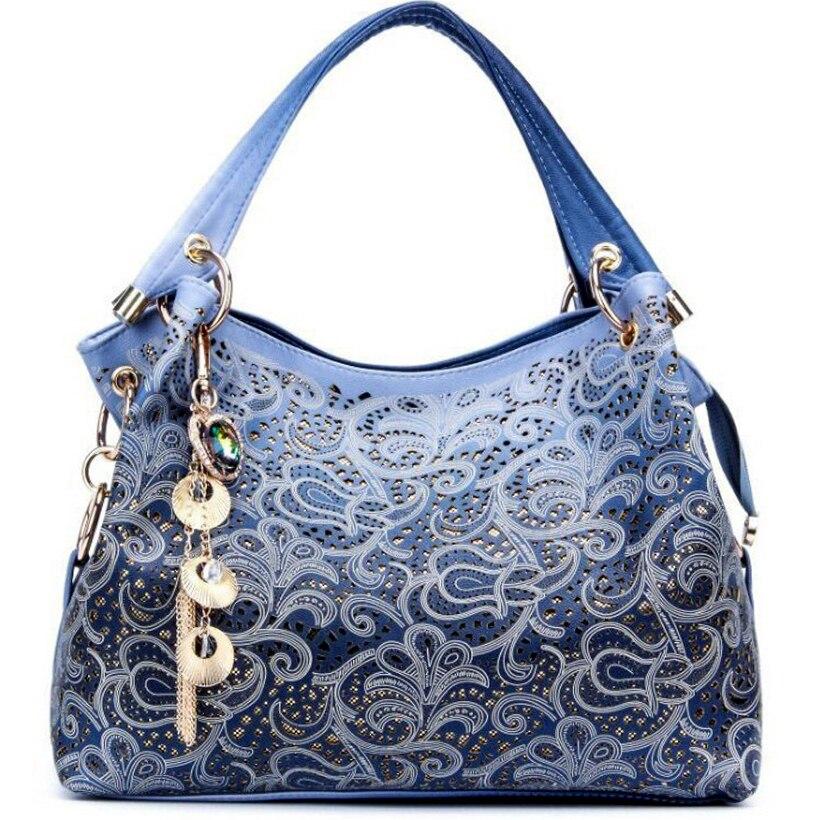 Luxury Handbags Women Bags Designer Peacock Hollow Out