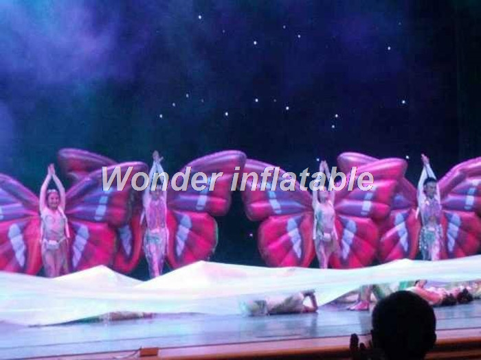 Envío gratis 2 m etapa rendimiento adulto inflable ala de mariposa - Para fiestas y celebraciones