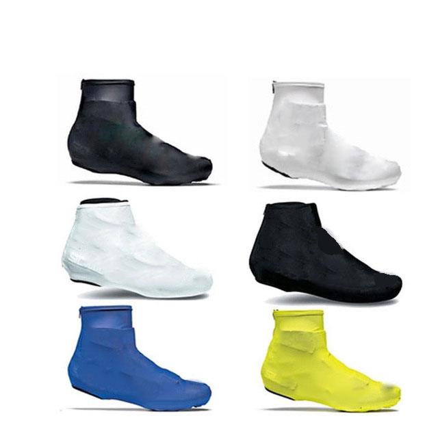 1 pair Pure Color Cycling Shoe Cover Sneaker Overshoes 6 Colors Spring Lycra Road Bicycle Bike MTB Winter Cycling Shoe Cover