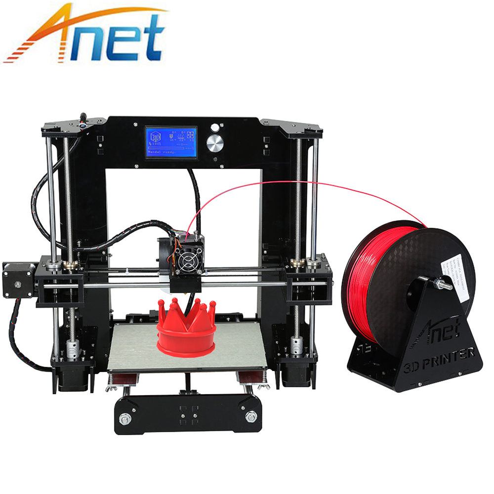 Anet A6 & A8 Normal/Auto Level 3d-Printer Big Size Reprap impresora 3d prusa i3 3D Printer Kit DIY with 10m Filament Kit DIY aluminum prusa i3 3d printer diy kit et i3 board lcd 12864 with 8 in 1 3d printer control box 3d filament 1kg