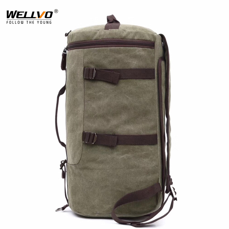 Men Huge Luggage Travel Bag Army Bucket Backpack Multifunctional Military Canvas Backpacks Large Shoulder Bags Pack XA111WC augur canvas leather crossbody bag men military army vintage messenger bags large shoulder bag travel bags pd0213