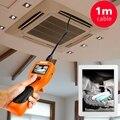 """2.4 """"pantalla a color LCD Endoscopio inspección de la Serpiente 180 rotación 1 m sonda flexible impermeable 8.5mm Cámara Con 6 LEDs ajustables"""