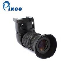 Pixco 1 2.0x Sağ Açı Bulucu için Sony Için Canon Için Pentax Fujifilm 1x 2x sağ görüş açısı makinesi