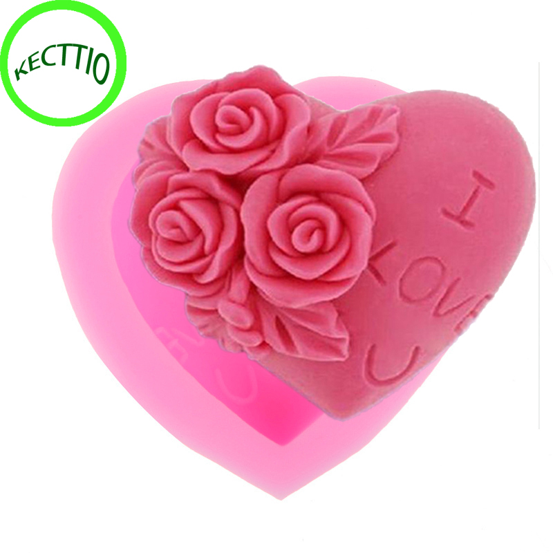 The Cheapest Price Aomily 3d Rose Bowknot Flowers Silicone Chocolate Mould Heart Love Soap Mold Candle Polymer Clay Mold Crafts Diy Forms Soap Base Soft And Light Home & Garden