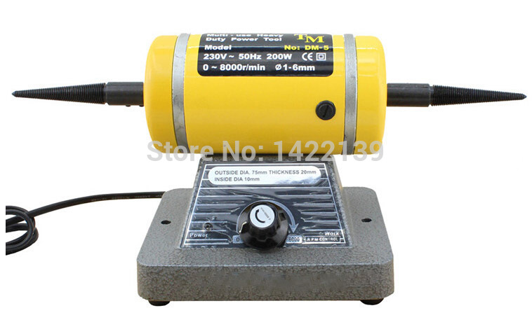 Variable Speed Bench Lathe Polishing Machine Buffing Motor Jewery Polisher