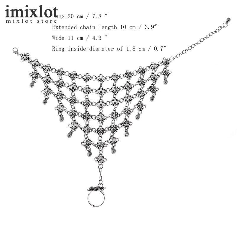 8c3498351e Imixlot Vintage Silver Hollow Flower Beachy Chic Festival Turkish Slave  Bracelet for Women Ethnic Jewelry Beach Foot Bracelets-in Chain   Link  Bracelets ...