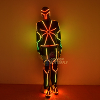 Full color programming LED Clothing Glowing Luminous Suits Costumes 2018 Hot Fashion Twinkle Star Men LED Clothes Pants Dance