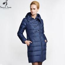 Snowclassic Winter Women's Jacket 2016 Thick Long Coats Women Hooded Padded Jacket Women Winter Coat 14220am