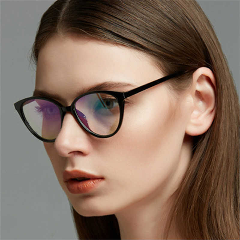 990d00fbb28 ... 2018 Retro Cute Cat Eye Computer Eyeglasses Frames For Women glasses  Transparent Reading PC Clear Lens ...