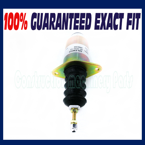Replace for Cummins Engine Shutdown shut off solenoid 6cta 8.3L 24V 3906776 SA-3151-24 for cummins generator shutdown shut off stop solenoid valve 6cta 8 3l 24v 3906776