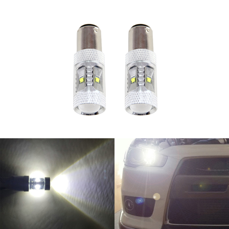 6500K White <font><b>Led</b></font> Replacement Bulbs <font><b>Lamp</b></font> For Mitsubishi Lancer 2010-2015 Front <font><b>Daytime</b></font> <font><b>Running</b></font> Lights Driving DRL Bulb