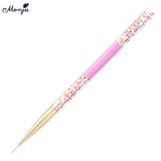 New 1Pc Colorful Acrylic Sequin Rod Pull Nail Pen