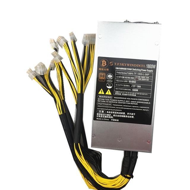 US $96 24 39% OFF|1800W PC Power Supply 1800W BTC APW3++ PSU Mining  Antminer Power Supply Bitcoin S7 S9 L3+ Bitcoin Miner computer PSU 1800W  1600w-in