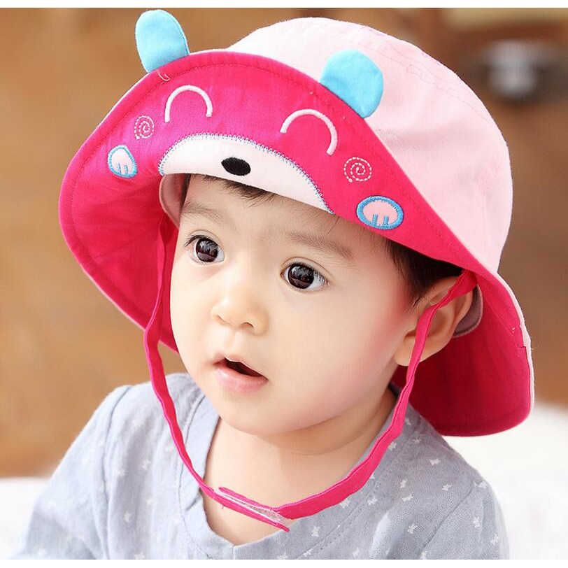 a1df0f77 ... New Arrival Baby Sun Hat Cap Child Photography Prop Spring Summer  Outdoor Wide Brim Kids Baby ...