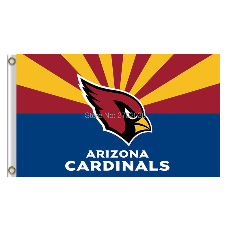 Arizona Cardinals Logo Flag Double Sided 100D Polyester NF*L World Series Football Team Arizona Cardinals Banner Flag ...