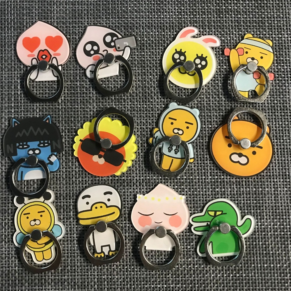 Cute 1Pcs Ryan Anti-fall Metal Finger Ring Mobile Phone Support Action Toy