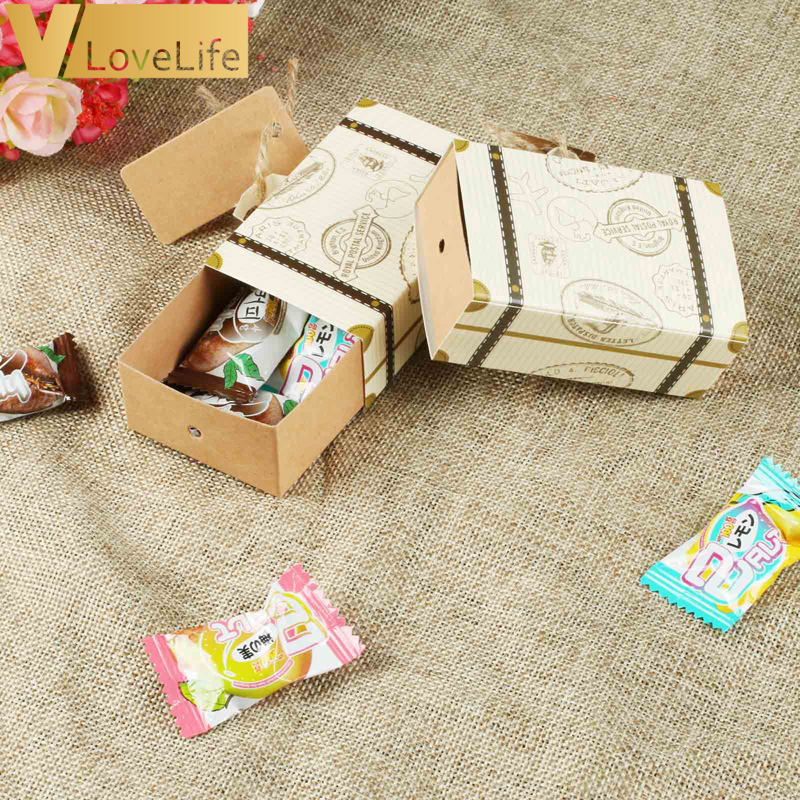 10pcs Travel Themed Wedding Decoration Paper Candy Box Wedding Favor