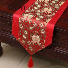 JaneYU Chinese Pastoral Tablecloth Table Cloth Tea Bed Flag Cabinet Mat Long Runner