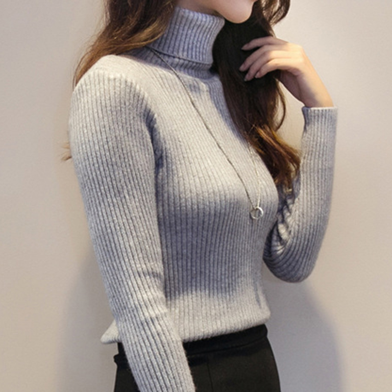 2019 Cashmere Sweater Women Turtleneck Pullover Ladies Shirt Hot Sale Female Warm Tops Sale Clothing female knitted sweater 1919 in Pullovers from Women 39 s Clothing