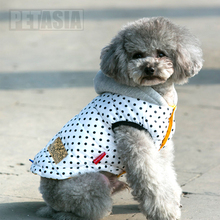PETASIA Waterproof  Polka Dot Dog Coat For  Small To Large Dogs XXL