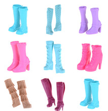 Multi Styles One Pair Fashion Assorted Doll Shoes Bandage Bow High Heel Sandals Boots For  Dolls Accessories Toys