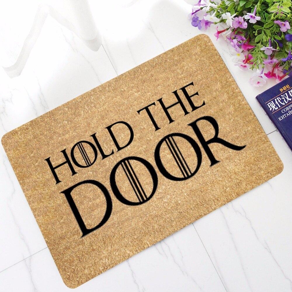 CAMMITEVER Hold the Door Floor Mats Bathroom Kitchen Carpets Children Doormats for Living Room Anti-Slip Tapete Rugs