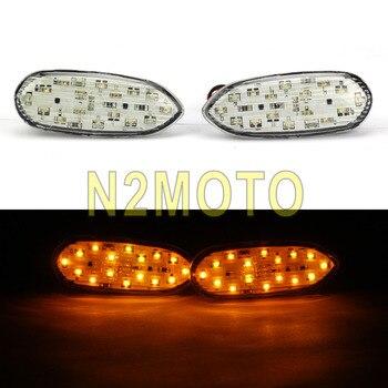 Clignotant de clignotant ambre de LED avant de moto pour Suzuki GSXR GSX-R 600 750 1000 2006-2016