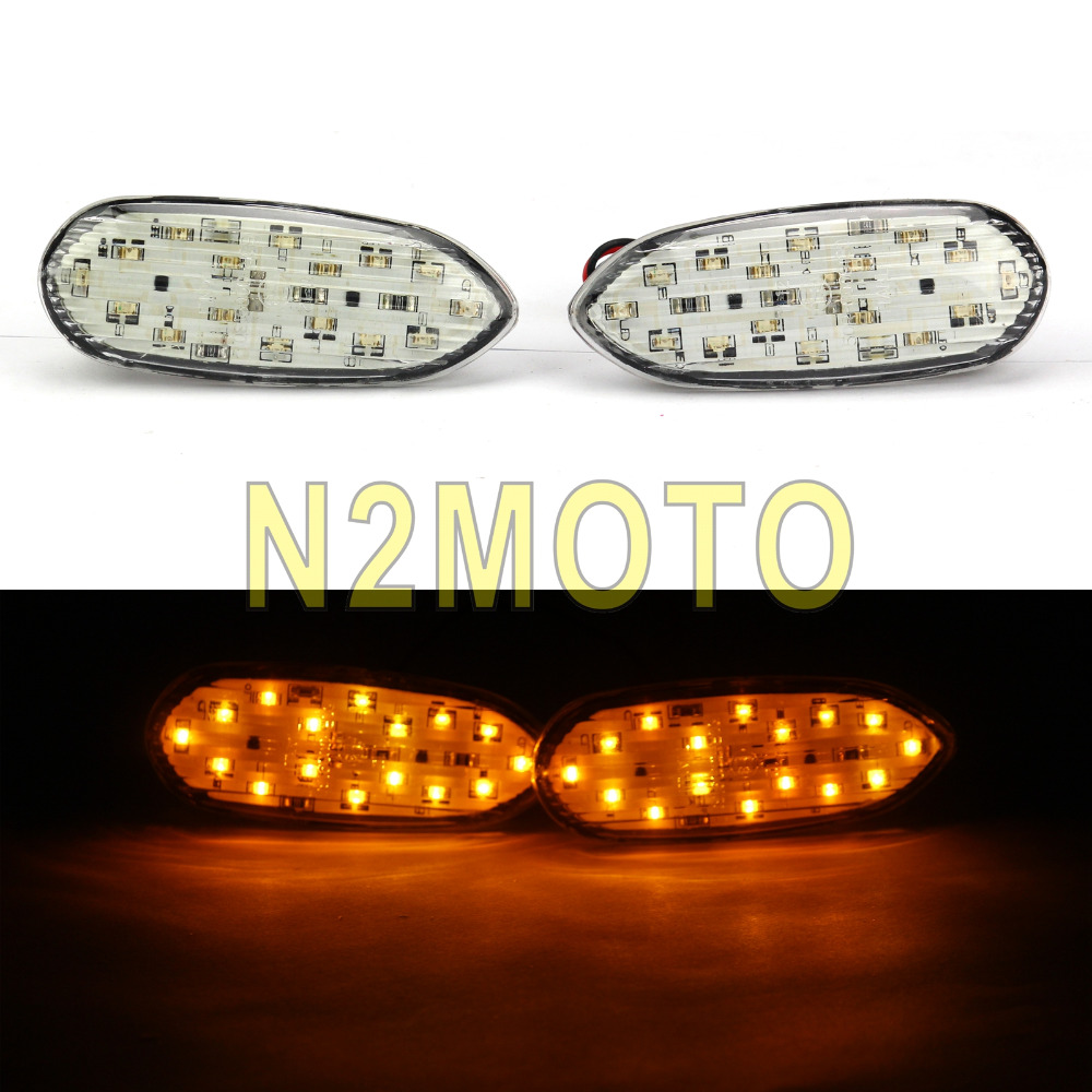 Motorcycle Front LED Amber Turn Signal Light Flush Mount Indicator Flasher for Suzuki GSXR GSX-R 600 750 1000 2006-2016Motorcycle Front LED Amber Turn Signal Light Flush Mount Indicator Flasher for Suzuki GSXR GSX-R 600 750 1000 2006-2016