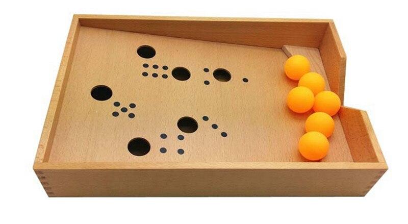 Nouveau bébé jouet Montessori bois soufflant boîte éducation de la petite enfance préscolaire formation enfants jouets bébé cadeau