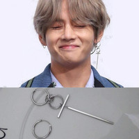 KPOP Bangtan Boys Album BTS JIMIN Stud Earrings Korean Mens Womens Long 925 Sterling Silver Earring