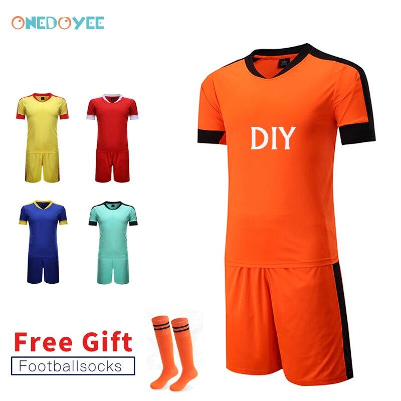 Onedoyee hombres Survetement camisetas de fútbol equipo personalizado  mujeres adolescentes fútbol Jersey Juegos Deportivos uniformes fútbol c702fcc7e007f