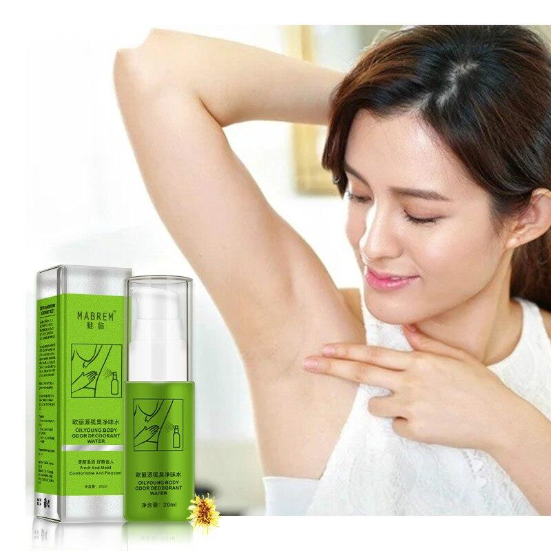 Summer Antiperspirant Spray Underarm Sweat Deodorization Odor Clean Natural Plant Extract Body Odor Deodorant Water 20 ML TSLM1