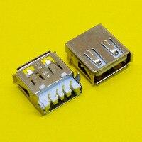 Conector USB del ordenador portátil, conector USB hembra 2,0, 90 grados, para escritorio, portátil, PC, cargador, 1 unidad