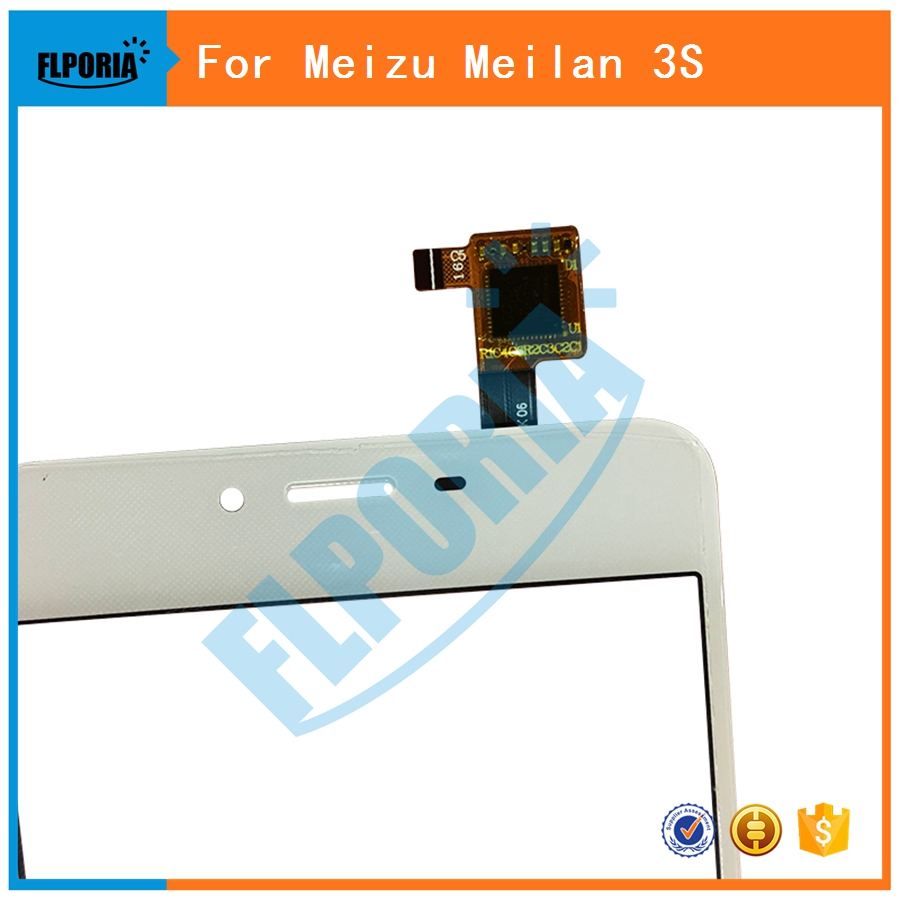 5PCS For Meizu Meilan M3S Touch Screen Digitizer Glass Sensor Panel No LCD For Meizu Meilan 3S Replacement Parts