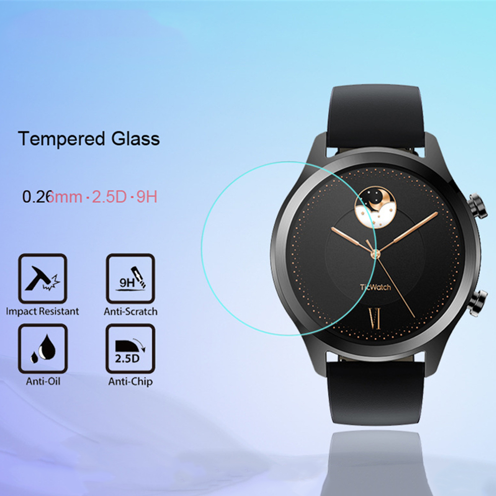 1pcs/2pcs For Tic Watch For Ticwatch 1 2 Pro E E2 S S2 C2 Tempered Glass 9H 2.5D Ultra Clear Premium Screen Protector Film